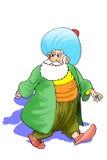 Nasreddin Hodja, turk Masalli vektor illustrationer
