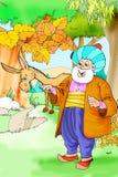 Nasreddin Hodja, turk Masalli arkivfoton