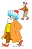 Nasreddin Hodja, turk Masalli royaltyfria bilder