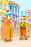 Nasreddin Hodja, turk Masalli arkivbild