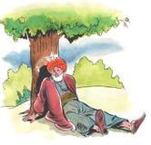 Nasreddin Hodja, turk Masalli royaltyfri foto