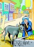 Nasreddin Hodja, turk Masalli royaltyfri bild