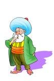 Nasreddin Hodja, turk Masalli stock illustrationer