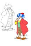 Nasreddin Hodja, turk Masalli royaltyfri illustrationer