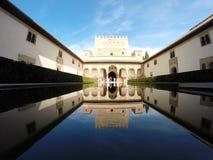 Nasrid宫殿,格拉纳达,西班牙 免版税库存照片