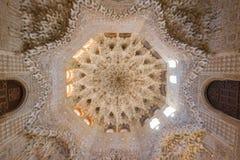 Nasrid för inregarnering slottar, Alhambra, Granada royaltyfri foto