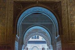 Nasrid för inregarnering slottar, Alhambra, Granada royaltyfri fotografi