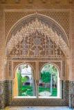 Nasrid för inregarnering slottar, Alhambra, Granada fotografering för bildbyråer