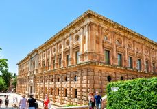 Nasrid Palace in Alhambra, Granada, Spain royalty free stock photo
