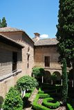 Nasrid Palace gardens, Alhambra Palace. Stock Images