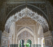 Nasrid Palace - Hall of the two Sisters in Alhambra in Granada, Stock Photo