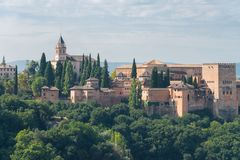 Nasrid Palaces and Alcazaba, Alhambra, Granada royalty free stock photo