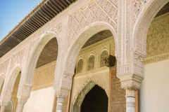 Courtyard in the Palacio Nazaries at the Alhambra in Granada, Sp. The Nasrid Palaces Stock Photo