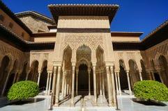 Nasrid-Palast - Gericht der Löwen in Alhambra in Granada, Spanien Stockfotos