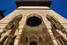 Nasrid-Palast - Gericht der Löwen in Alhambra in Granada, Spanien Lizenzfreie Stockfotografie