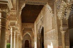 Nasrid-Palast - Gericht der Löwen in Alhambra in Granada, Spanien Lizenzfreies Stockfoto