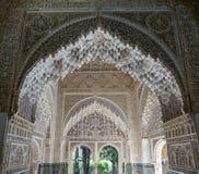 Nasrid slott - Hall av de två systrarna i Alhambra i Granada, Arkivfoto