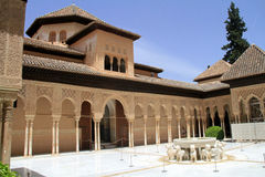 Nasrid slott på Alhambra Arkivfoton