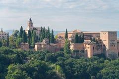 Nasrid slottar och Alcazaba, Alhambra, Granada royaltyfri foto