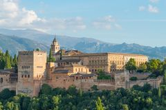 Nasrid slottar och museum, Alhambra, Granada royaltyfri bild