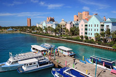 Nassau, Bahamas, Caribbean. Colourful Nassau- capital of Bahamas, Caribbean Stock Image