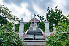 The Government House in Nassau, Bahamas royalty free stock photo