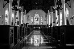 Christ Church Cathedral in Nassau royalty free stock photography