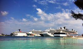 Nassau Bahamas harbour royalty free stock photo