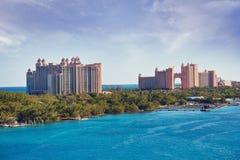 NASSAU, BAHAMAS - 7 janvier 2019 L'île-hôtel de l'Atlantide Paradise image libre de droits