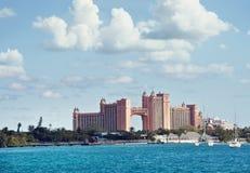 NASSAU, BAHAMAS - 7 janvier 2019 L'île-hôtel de l'Atlantide Paradise photos libres de droits