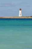 Nassau Bahamas Lighthouse. Lighthouse on Jetty Outside Nassau Bahamas Royalty Free Stock Photos