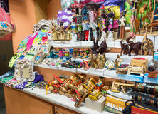 Nassau, Bahamas Straw Market. NASSAU, BAHAMAS - OCT 15, 2016: The famous Nassau Straw Market, where local merchants sell hand-crafted straw and other merchandise Stock Photos
