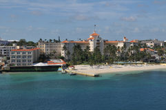 Nassau beach in Bahamas. Royalty Free Stock Photos