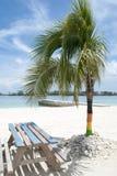 Nassau City Beach Table Stock Photo
