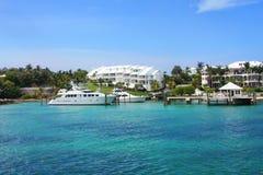 Nassau, de Bahamas Oceanfront royalty-vrije stock fotografie