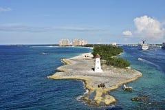 Nassau fyr Arkivfoton