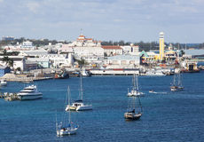 Nassau hamn Royaltyfri Fotografi