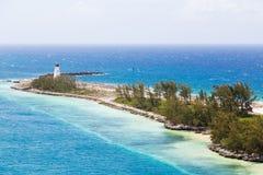 Nassau-Leuchtturm auf Finger des Landes stockbilder