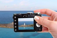 Nassau-Leuchtturmschnappschuß Lizenzfreies Stockfoto