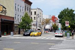 Nassau St., Greenpoint, Brookly, NY stock photography