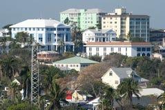 Nassau stadsarkitektur Arkivbild