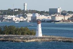 Nassau-Stadt-Leuchtturm Stockfotografie