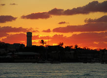 Nassau Sunset Skyline Royalty Free Stock Image