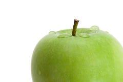Nasse Apfelnahaufnahme Stockbilder