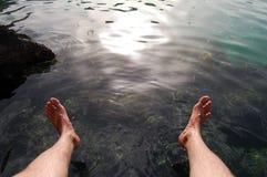 Nasse Füße Stockfotografie