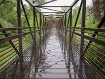 Nasse Fahrradhinterbrücke Lizenzfreie Stockfotos