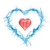 Nasse Liebe Stockbild
