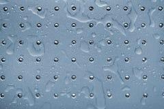 Nasse metallische Oberfläche lizenzfreies stockbild