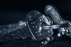 Nasse Schlüssel Stockfoto