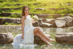 Nasse sexy Braut Stockbilder